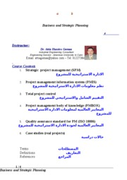 Report Strategic Project Management