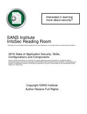 sans-2016-state-of-application-security