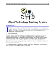 Case Study CTTS Introduction