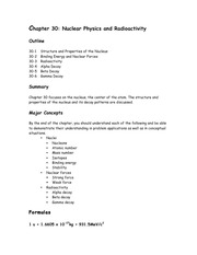 Chapter 30 Pre-Lecture Outline