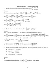 Chapter7.Fourier.Series.Exercise.Solutions(1)