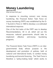 FATF - Money Laundering new