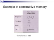 Chapter7 Constructive Memory Lecture