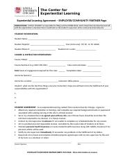 Service Learning Agreement