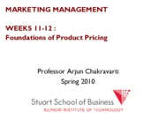 Marketing Management Lecture Week 11 PRICE DISC CHANNELS