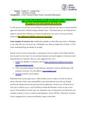LastName-L1201-Research Paper Project-Annotated Bibliography.docx