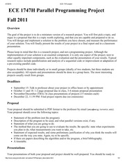 ECE 1747 Official Fall 2011 Project Guide