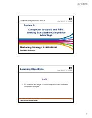 MS Lecture 4 - Competitor Analysis and RBV - Seeking Sustainable Competitive Advantage - 2018.pdf