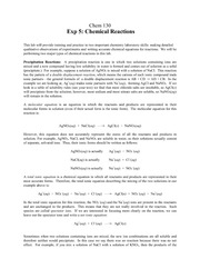 Chemical Reactions Prelab