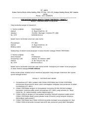 Contoh Surat Perjanjian Karyawan Tetap Docx Pt Abcd Rukan Sentra Bisnis Artha Gading Blok Z7z No 122 123 Kelapa Gading Barat Dki Jakarta 14241 Phone Course Hero
