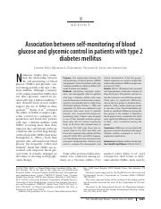 Association between self-monitoring of blood glucose and glycemic control i...