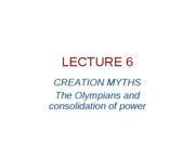 lecture 608- the olympians and the consolidation of power