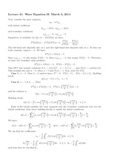 Lecture 21 on Wave Equation II