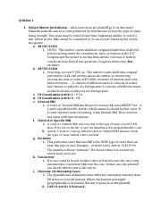 Civil Procedure Outline