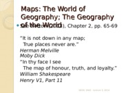 GEOG 1HA3 - Lecture 3, 2014