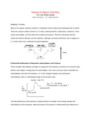 Chapter 7 Intro - Review of Organic Chemistry