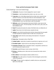 Water and the Environment Study Guide