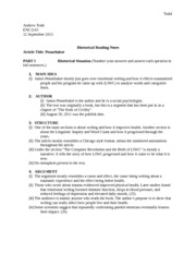 Rhetorical Reading Notes(complete)