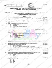 (www.entrance-exam.net)-VTU, CSE, 3rd Sem - Unix and Shell Programming Sample Paper 2