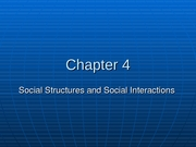 Chapter 4 Sociology