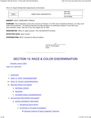 Compliance Manual Section 15_ Race and Color Discrimination