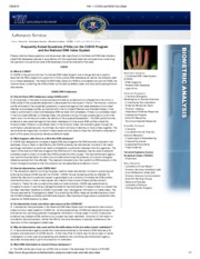 FBI — CODIS and NDIS Fact Sheet