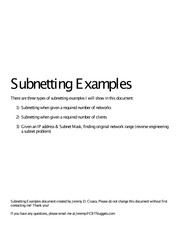 Subnetting Examples