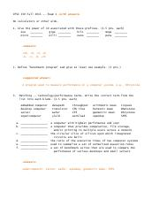 CPSC 3300 Exam 1 - Fall 2013 with Answers