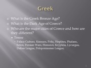 Lecture 03 Greek People - 2 lectures