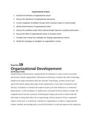 Organizational Culture-OB Group Assignment