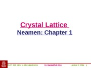 ELCT363_Lecture5_Crystal_Lattice
