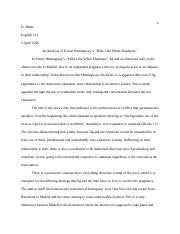 eng essay the essay the dreamer by junot diaz is a great 4 pages essay 2 white elephant