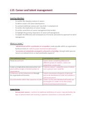 L15 - career and talent management.docx