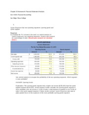 Chapter 12 Homework Financial Statement Analysis