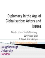 Lecture 2_Globalisation and Diplomacy