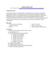 WaterSoilAndAgriculture_EarthsWatersLab_Assignments