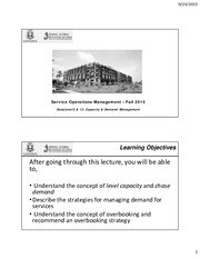 Session 12 & 13 - Capacity Management