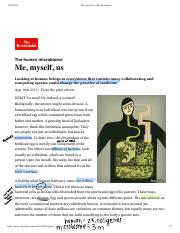 Me, myself, us_The Economist
