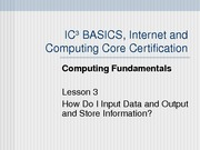Computing Fundamentals Lesson 03