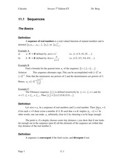 Calculus Notes 7E 11.1
