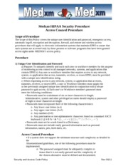 IT - Hippa - Security Access Code Policy