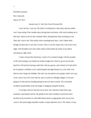 Creative Writing Story my own sweet personal hell
