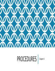 Procedures_-_Chapter_8