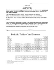 general chemistry ii midterm 1 Fundamentals of chemistry units, scientific notation, and significant figures the periodic table organic ii structure of alkanes conformations of alkanes.