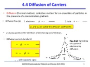 4510Chapter 4-2_2012_Diffusion of Carriers