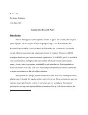Comparative Research Paper .doc