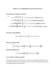 MATH 3242 FORMULAE AND THEOREMS