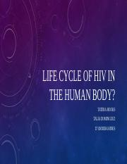 Life cycle of HIV In the human body.pptx
