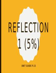 Briefing - Reflection 1 (5%)(1)