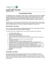 Group Management Report Instructions Fall 2013 Blackboard(1)